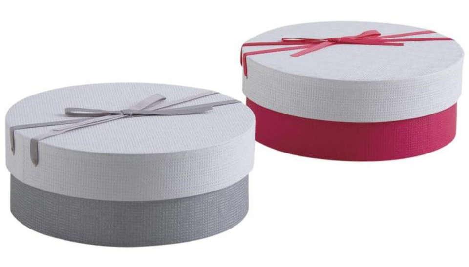 Boite cadeau ronde en carton avec noeud ecobag store - Boite en carton ronde ...