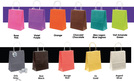 Paper bags : 11 trend colors   : Bags