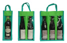 Non-woven bottle's bag with window : Bottles packaging