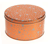 Round ELEGANCE metal box : Celebrations