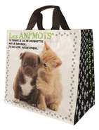 """Cabas 30 litres  """"Chiens Chats Ani'mots"""" : Bags"""