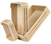 Corbeille bois nature : Trays, baskets