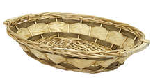 Oval wicker basket : Trays, baskets