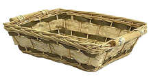 Corbeille osier rectangulaire : Trays, baskets
