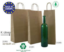 Kraft Bags for 1, 2, 3  bottles K.libag : Bottles packaging