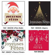 Etiquettes Joyeuses Fêtes : Packaging accessories