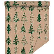 """Rouleau papier cadeau """"Sapin Vert"""" :"""