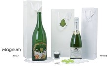 Sacs luxe pelliculés brillants  blanc & MAT  : Bottles packaging and local products