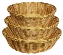 Panières rondes en polypro : Trays, baskets