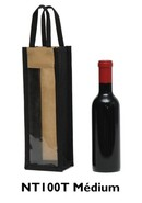 Reusable non woven bag for bottles 37.5 cl to 50 cl :