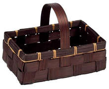 Panier bambou marron : Trays, baskets