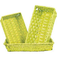 Corbeille bambou vert anis : Trays, baskets
