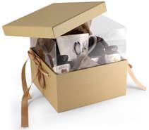 Lot de 2 Boites Pandore Luxe - Fenêtre intégrée + ruban : Boxes