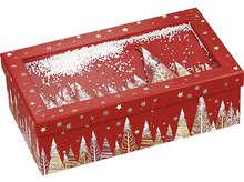 """Coffret carton rectangle """"Bonnes fêtes"""" : Boxes"""