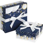 """Coffret carton à ruban """"Bonnes fêtes"""" : Boxes"""