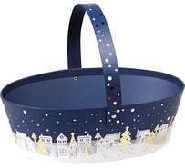 """Panier carton ovale """"Bonnes fêtes"""" : Trays, baskets"""