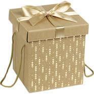Coffret carton cadeau or et rouge : Boxes