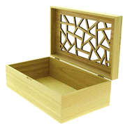 Coffret rectangle bois Laser : Trays, baskets