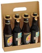 Coffret carton 4 bouteilles de bière 33cl : Bottles packaging
