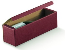 Burgundy Milan for 1 bottle : Bottles packaging