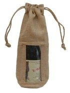 Jute bottle pouch for 1 bottle with window : Bottles packaging and local products