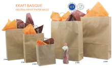 Twisted handles : low prices : Kraft - paper bag