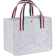 Sac feutre rectangle gris clair  : Bags