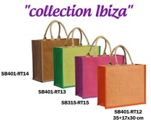 IBIZA collection jute bags 350+150x300mm : Bags