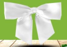Ruban Noeud Satin Blanc  : Packaging accessories