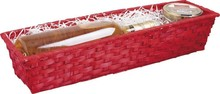 Wicker's basket 44x12x7cm : Trays, baskets