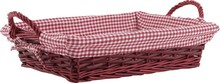 Wicker basket teinted 38x28x9-14 cm : Trays, baskets