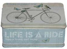 "Boite métal à thé ""BICYCLE"" : Boxes"