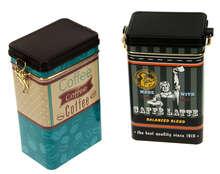 """Lot de 2 boites métal à café  """"COFFEE TIME"""" : Boxes"""