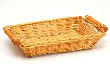 Corbeille osier teinté Miel : Trays, baskets