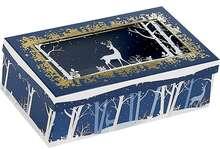 Coffret carton rectangle fenêtre couvercle  PET décor Forêt/Renne : Boxes