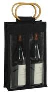 Jute bottles bag with window for 2 bottles 75 cl : Bottles packaging and local products