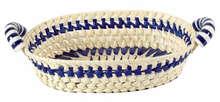 Palm basket + ceramic 36x28x8-12 cm : Trays, baskets