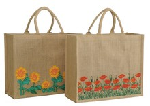 Printed jute bag  : Shop's bags