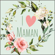 Etiquette I love maman : Packaging accessories