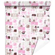Papier cadeaux Fragances rose/gris : Packaging accessories