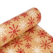 Papier cadeau  kraft brun Flocons : Packaging accessories