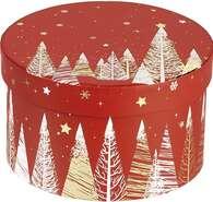 Coffret carton rond  rouge/blanc/ : Boxes