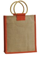 Jute bottle bag for 3 bottles 75 cl : Bottles packaging and local products