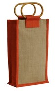 Jute bottle bag for 2 bottles 75 cl : Bottles packaging and local products