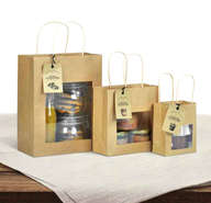 Mini windows bags for Terroir products : Catering  delicatessen shop