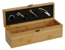 Natural  wooden box 1 bottle + 4 accessories : Bottles packaging and local products