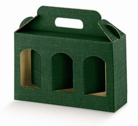 Cardboard boxe for 3 jars Height 120 mm :