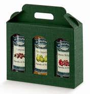 Cardboard box for 3 jars Height 150 mm : Jars packing