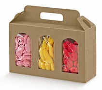 Cardboard boxe for 3 jars height 150 mm :