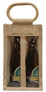 Jute bottles bag with window for 2 bottles 37.5 cl : Bottles packaging and local products